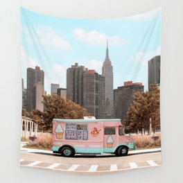 New York Ice Cream Wall Tapestry