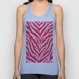 Red zebra fur texture Unisex Tank Top