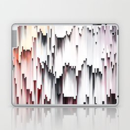 White Black Mauve Cascade Abstract Laptop & iPad Skin