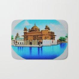 Classical Masterpiece 1825 Sri Harimandir Sahib - Golden Temple, Amritsar, India - Artist Unknown Bath Mat