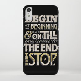 Begin at the Beginning iPhone Case