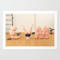 gym Art Prints featuring GYM by CESS