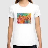 flamingos T-shirts featuring Flamingos by takmaj