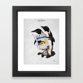 Read All Over Framed Art Print