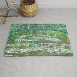 Claude Monet - The Japanese Footbridge Rug