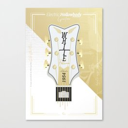 The Iconic White Falcon - Electric Hollowbody Guitar Canvas Print