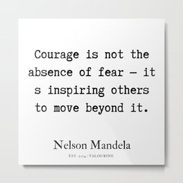 24  | Nelson Mandela  Quotes | 190818 Metal Print