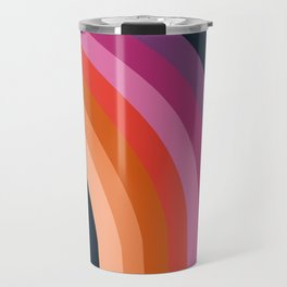 Tubular - retro throwback 70s style rainbow colorful trendy 1970's art decor Travel Mug