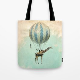 Sticking your neck out, giraffe Tote Bag