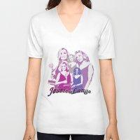 jessica lange V-neck T-shirts featuring Jessica Lange - Emmys 2014 by BeeJL