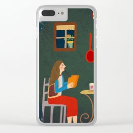 No place like home- Illustration Clear iPhone Case