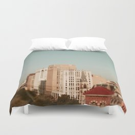 Springtime In Detroit Duvet Cover