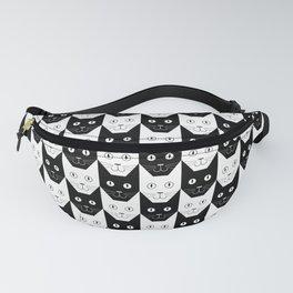 Black cat, white cat Fanny Pack
