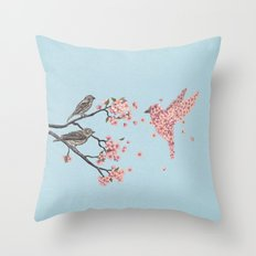 Blossom Bird  Throw Pillow