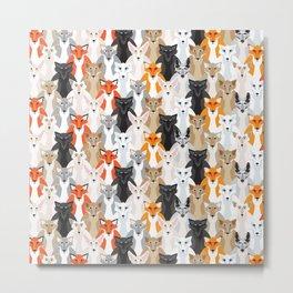 Friendly Foxes Metal Print