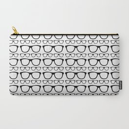 Black and White Retro Glasses Carry-All Pouch