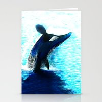 orca Stationery Cards featuring Orca by Artwork by Alex