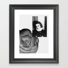 Coco on Camelia Framed Art Print