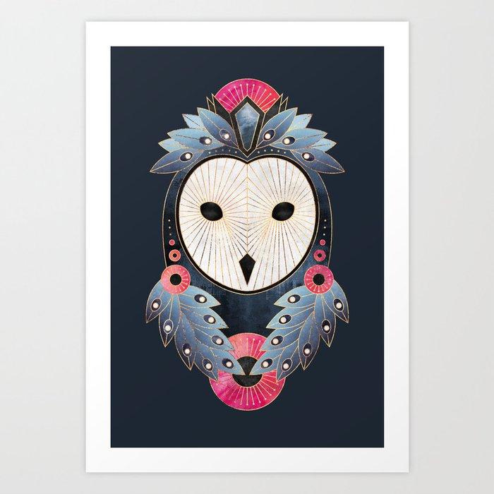 Owl 1 - Dark Art Print