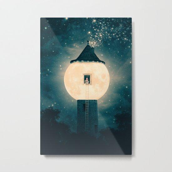The Moon Tower Metal Print