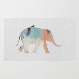 Pastel Elephant Rug