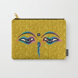 Eyes of God of India on Gold-leaf Screen Carry-All Pouch