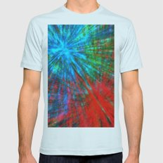 Abstract Big Bangs 001 Mens Fitted Tee SMALL Light Blue