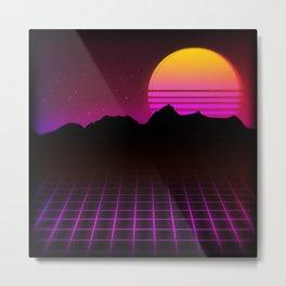 80s Vibes Metal Print