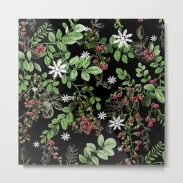 mid winter berries Metal Print