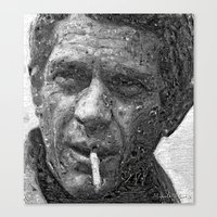 steve mcqueen Canvas Prints featuring Steve McQueen    Version 1 by Miguel A. Martin