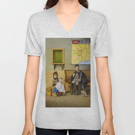 Vintage poster - Waiting Room Unisex V-Neck