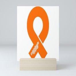Multiple Sclerosis Awareness Ribbon  Mini Art Print