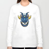 warcraft Long Sleeve T-shirts featuring Blue Dragonflight Crest by Falling Stardusk