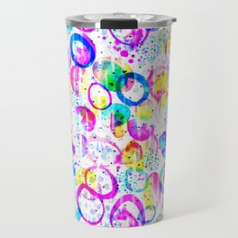 Sweet As Candy - colorful watercolor pattern by Lo Lah Studio Travel Mug