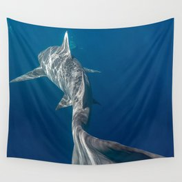 Peaceful Lemon Shark Wall Tapestry