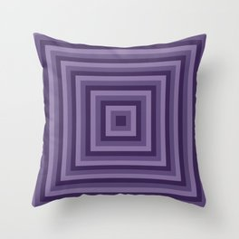 Purple Squares Throw Pillow