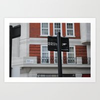 221b Art Prints featuring 221B by Sandrine Bandura