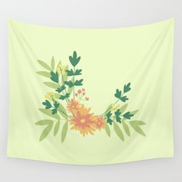Citrus Floral Wall Tapestry