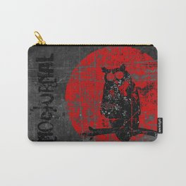 Nocturnal - Grunge Owl Carry-All Pouch