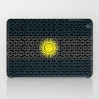argentina iPad Cases featuring digital Flag (Argentina) by seb mcnulty