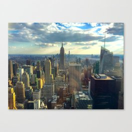 View Of New York City Canvas Print