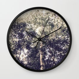 Dappled Light Filtered Through Trees Wall Clock