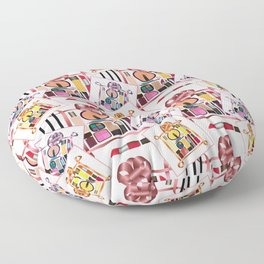 Set of cosmetics and perfumes . Floor Pillow