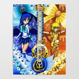 Sailor Mew Guitar #18 - Sailor Mercury & Mew Pudding Poster