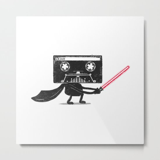 Media Wars: The Cassette Strikes Back Metal Print