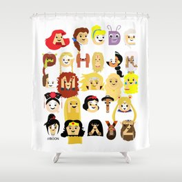 Princess Alphabet Shower Curtain