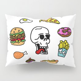 Hungry Skull Pillow Sham