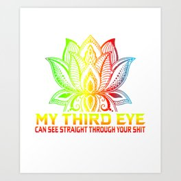 Third Eye  Shirt Gift Art Print