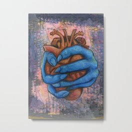 Anxious Heart Metal Print