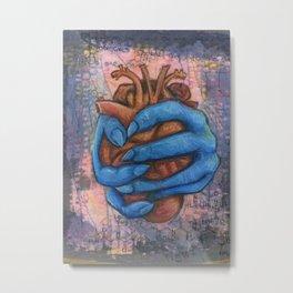 Anxious Heart Metal Print